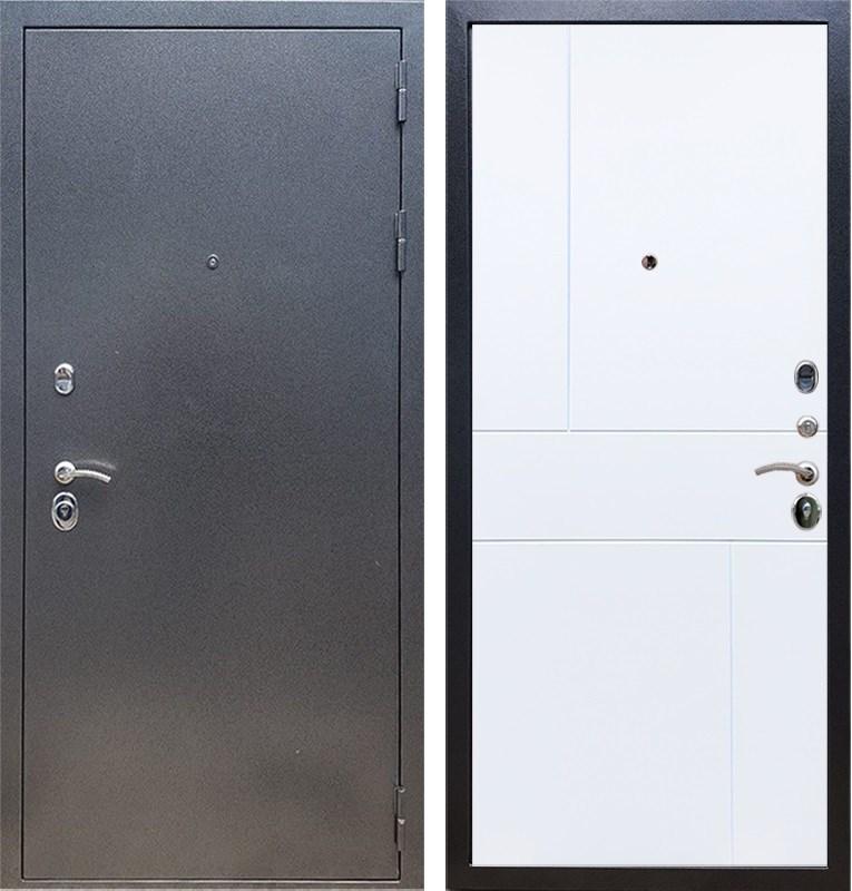 Входная стальная дверь Армада 11 ФЛ-290 (Антик серебро / Белый матовый)