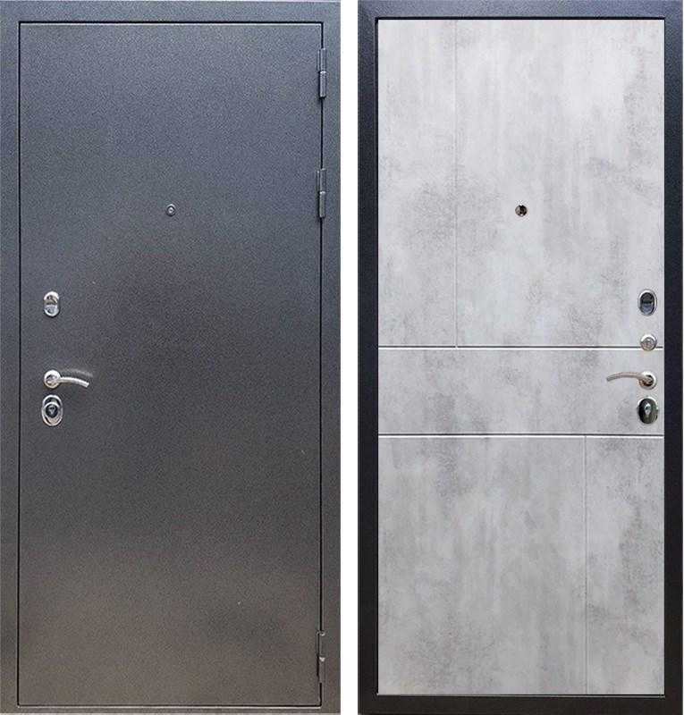 Входная стальная дверь Армада 11 ФЛ-290 (Антик серебро / Бетон светлый)