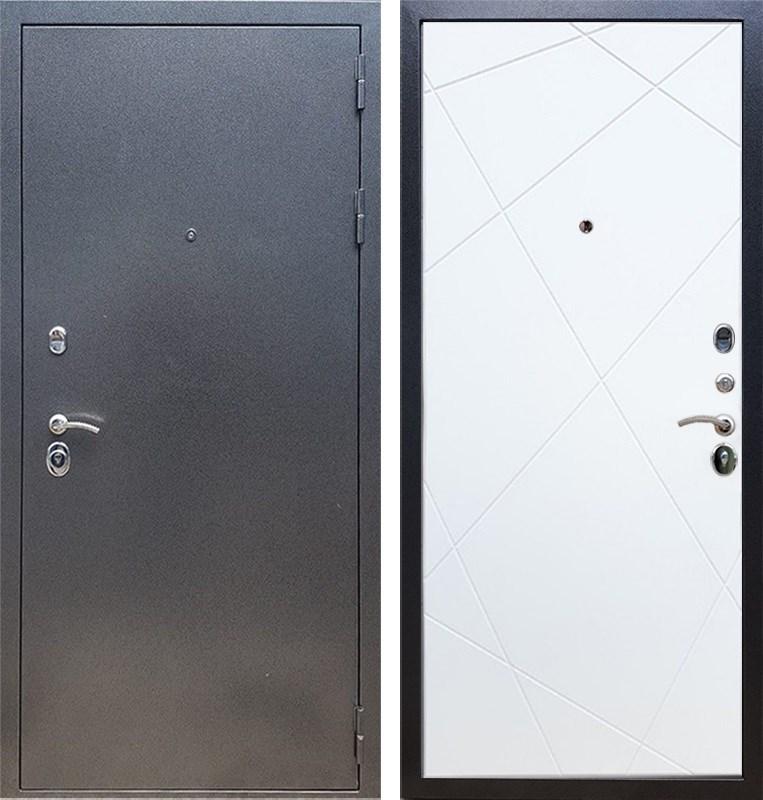 Входная стальная дверь Армада 11 ФЛ-291 (Антик серебро / Белый матовый)