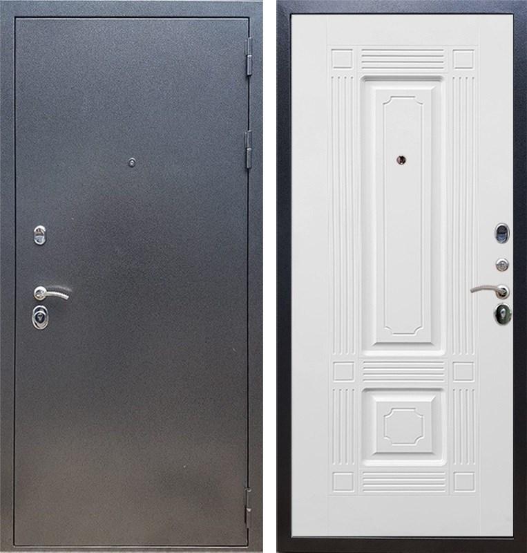 Входная стальная дверь Армада 11 ФЛ-2 (Антик серебро / Белый силк сноу)