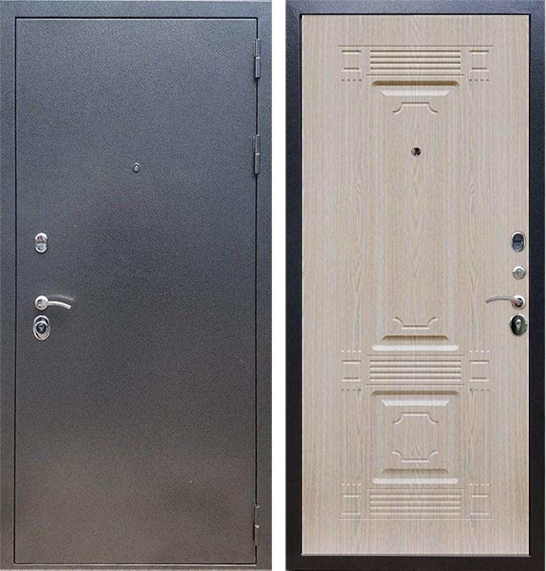 Входная стальная дверь Армада 11 ФЛ-2 (Антик серебро / Дуб белёный)