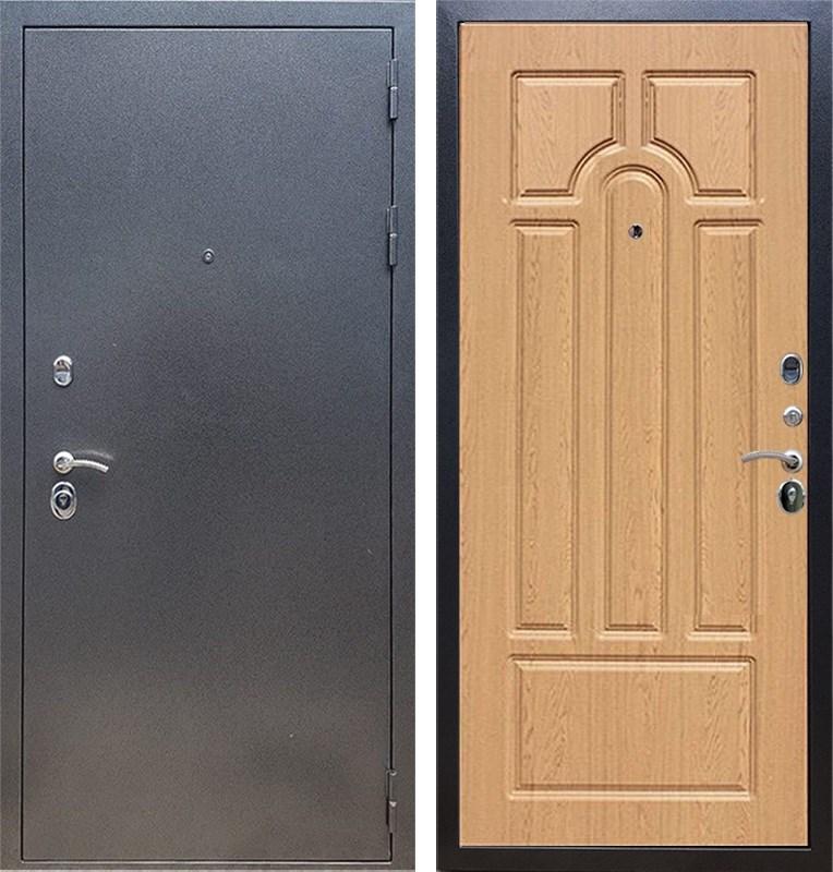 Входная стальная дверь Армада 11 ФЛ-58 (Антик серебро / Дуб натуральный)