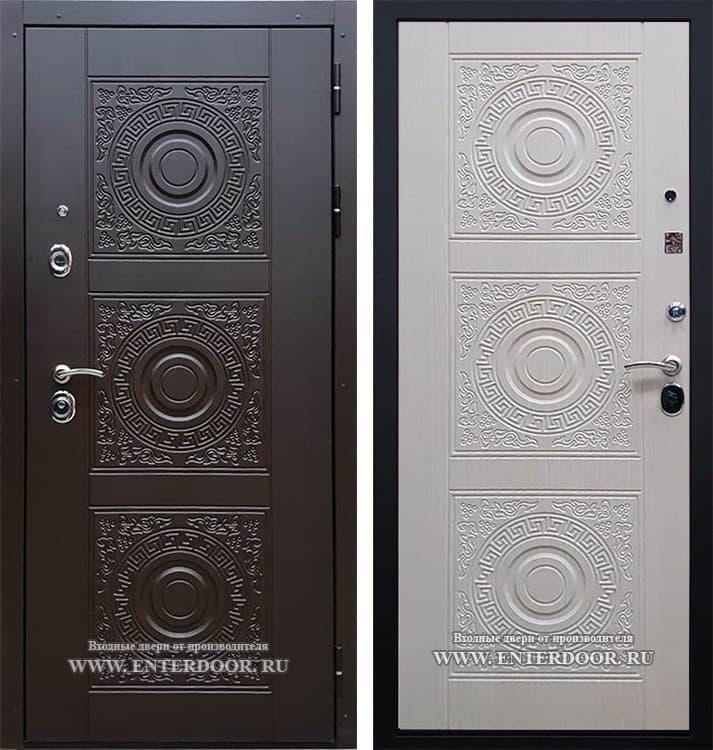 Входная стальная дверь Богема 3D с цилиндром Cisa (Венге / Дуб беленый)