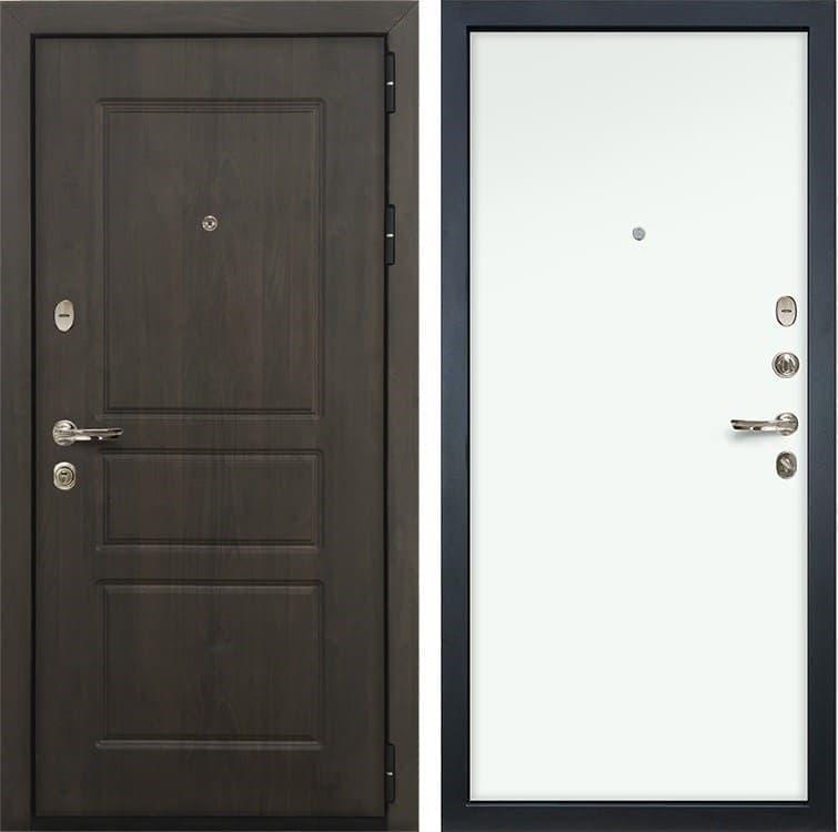 Входная стальная дверь Лекс Сенатор Винорит Белый (панель №59)
