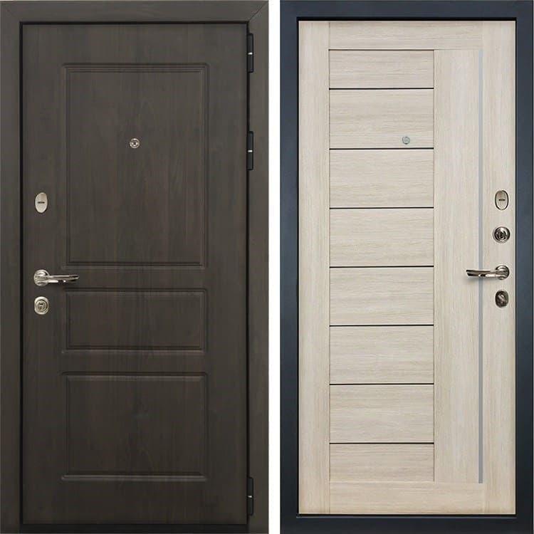 Входная стальная дверь Лекс Сенатор Винорит Верджиния Ясень кремовый (панель №40)