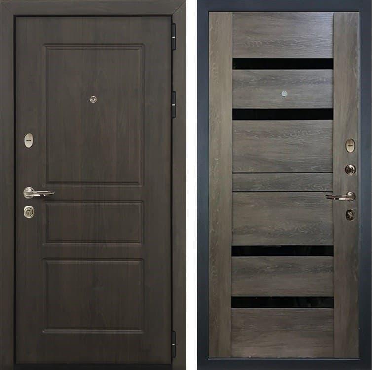 Входная стальная дверь Лекс Сенатор Винорит Неро Графит Шале (панель №65)