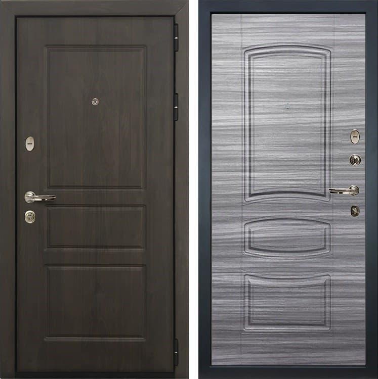Входная стальная дверь Лекс Сенатор Винорит Сандал серый (панель №69)