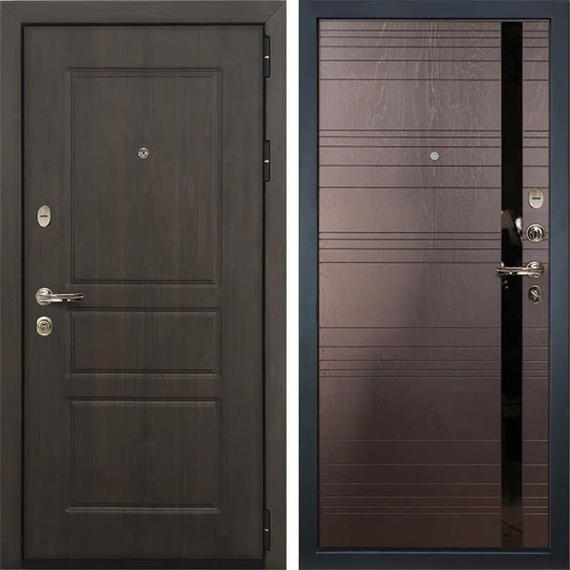 Входная стальная дверь Лекс Сенатор Винорит Ясень шоколад (панель №31)