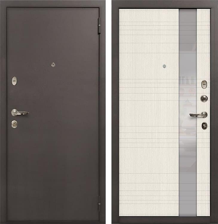 Входная стальная дверь Лекс 1А Новита (№52 Беленый дуб)