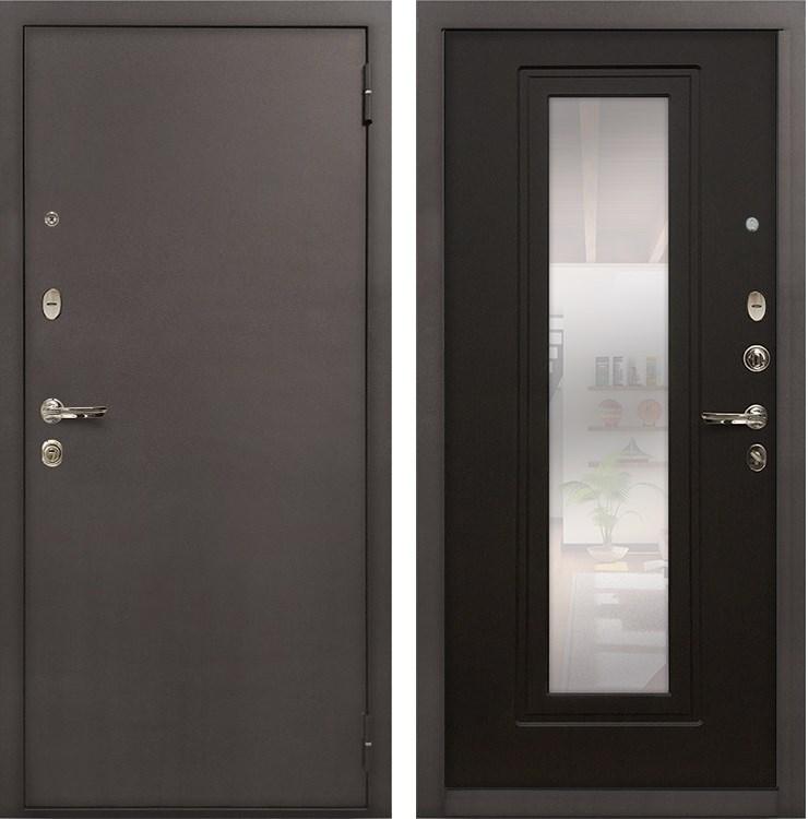 Входная стальная дверь Лекс 1А с Зеркалом (№22 Венге)