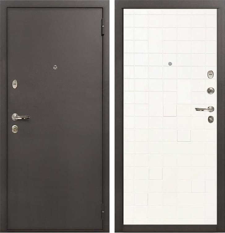 Входная стальная дверь Лекс 1А (№56 Ясень белый)