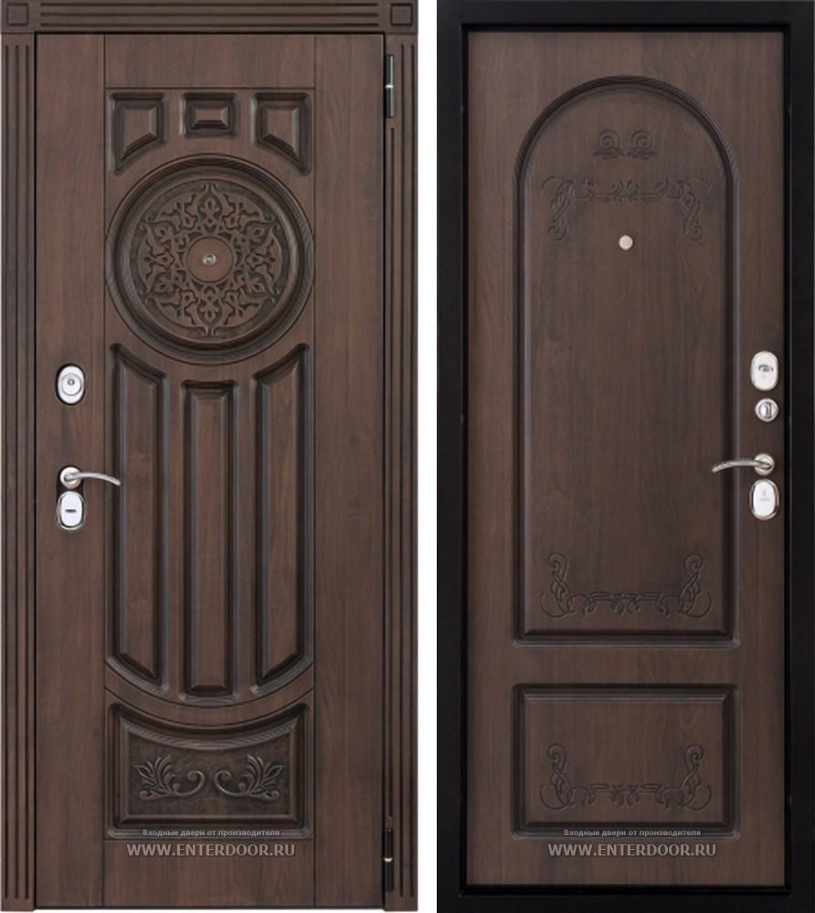 Входная стальная дверь Лео (Голден патина / Голден патина)