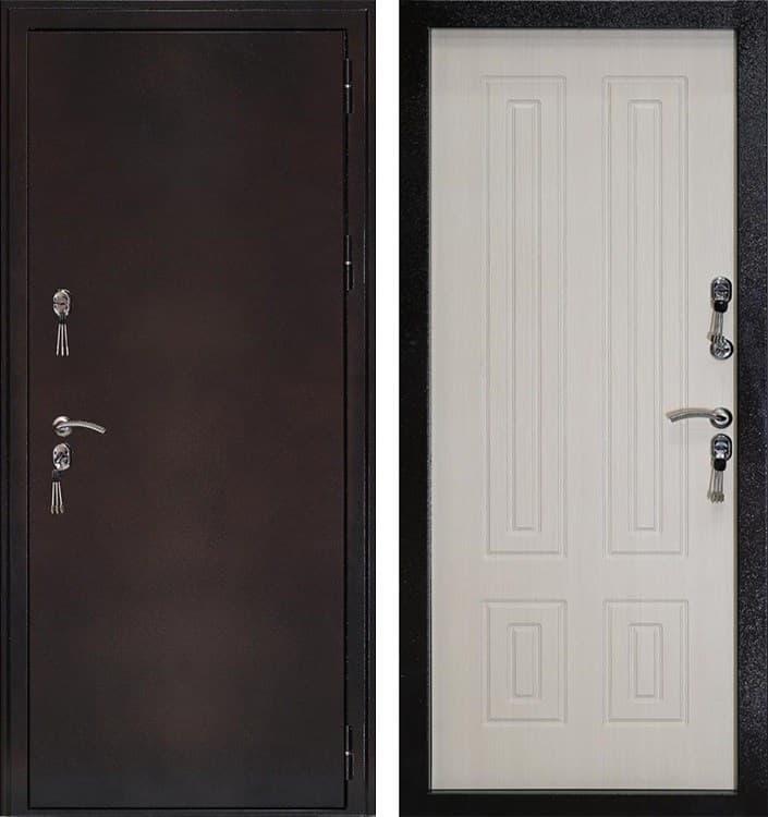 Входная уличная дверь с терморазрывом Кондор Термо (Антик медь / Беленый Дуб)