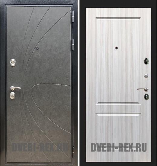 Стальная дверь Рекс Премиум 248 / ФЛ-117 (Сандал белый)