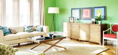 Использование зеленого цвета в дизайне интерьера