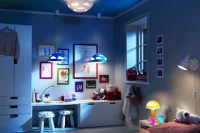 Освещение в детской комнате — правильное и комфортное