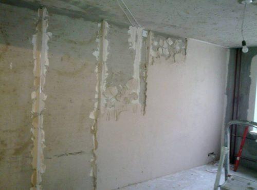 Процесс оштукатуривания стен и потолков