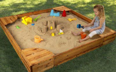 Как сделать песочницу во дворе своими руками