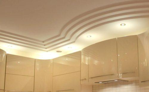 Гипсокартонные подвесные потолки