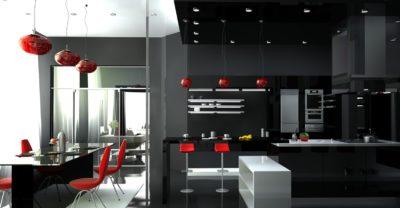 Стиль техно в оформлении кухни