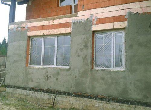 Оштукатуривание фасадов зданий
